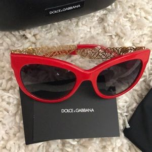 Dolce & Gabbana Accessories - 🕶 Dolce & Gabbana sunglasses red/gold NEW
